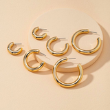 Crazy Lightweight Everyday Hoops in Gold and Silver - Bettina's Collection