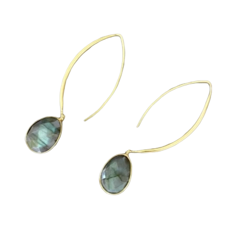 Joya Stiletto Labradorite Earring - Bettina's Collection