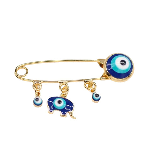 Elephant Evil Eye Pin - Bettina's Collection