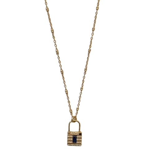 Leesa Lock Necklace - Bettina's Collection