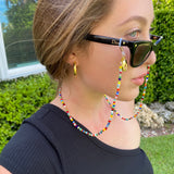 Mixed Bead Face Mask Chain/Glasses Chain/Necklace - Bettina's Collection
