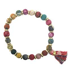 Kantha Tassel Bracelet/Support the Girls Education Fund of India - Bettina's Collection