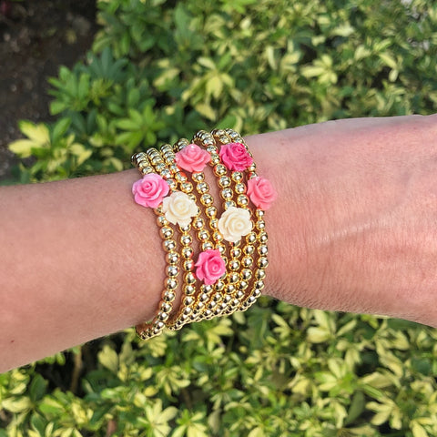 Lee Flower Gold Ball Bracelet