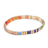 Multi-Color Gold Tila Bracelet - Bettina's Collection