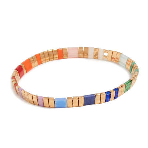 Tilla Multi-Color Gold Bracelet