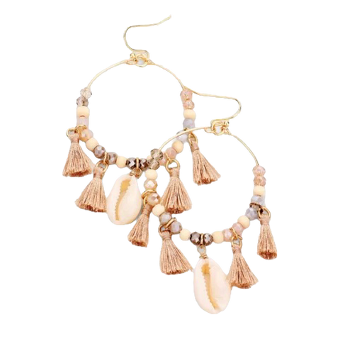 Cowrie Dangle Earrings - Bettina's Collection