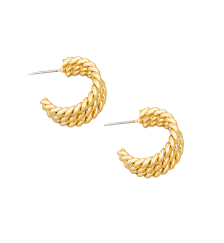 Small Triple Hoops in Gold or Silver - Bettina H. Designs