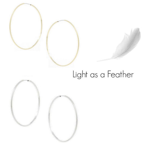 Light as a Feather Infinity Hoops - Bettina's Collection