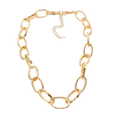 Sasha Textured Link Necklace - Bettina's Collection