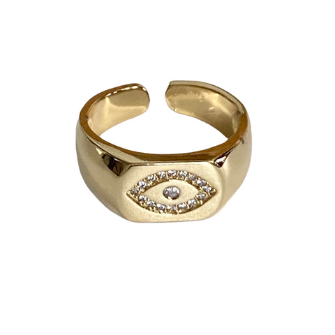 Evil Eye Signet Ring - Bettina's Collection