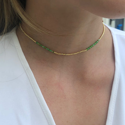 Leanne Gold and Green Choker - Bettina's Collection