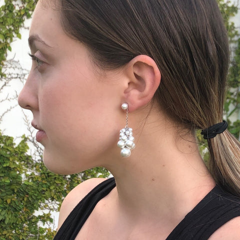 Sosi Pearl Cluster Earrings