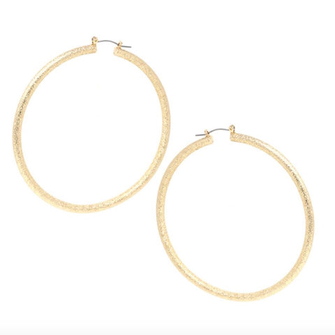 Bettina Dusted Shimmer Gold or Silver Hoop Earrings - Bettina's Collection