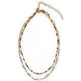Gracie Beaded Double Layered Necklace - Bettina's Collection