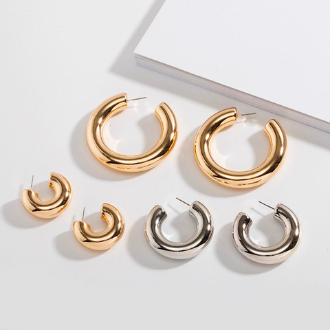Funky Chunky Hoop Earrings