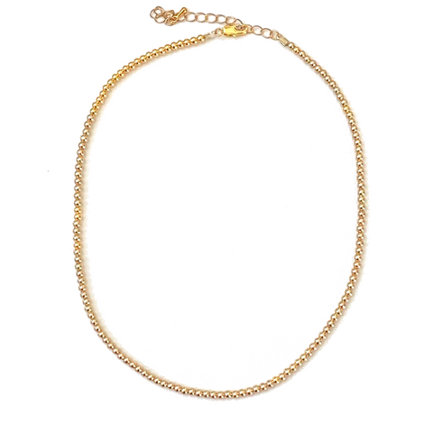 Not Plain Jane Gold Ball Necklace - Bettina's Collection