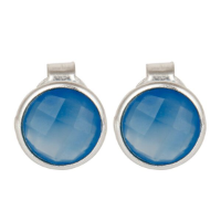 Bimala Chalcedony Sterling Silver Stud - Bettina's Collection