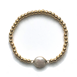 Pammi Round or Square Pearl Bracelet - Bettina's Collection