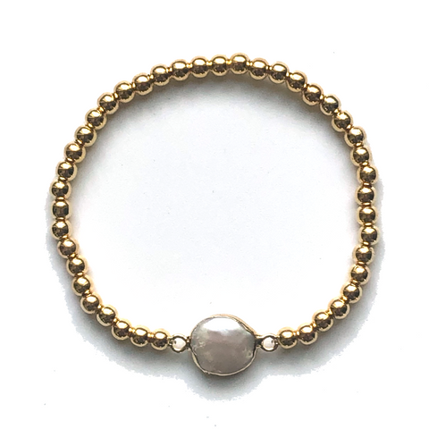 Pammi Round or Square Pearl Bracelet