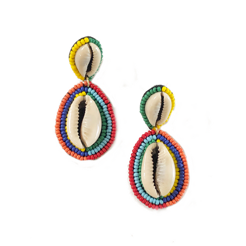 Rainbow at the Beach Earrings - Bettina's Collection