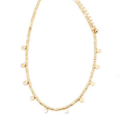 Eden Gold Delicate Disc Necklace - Bettina's Collection