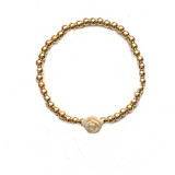 Lee Flower Gold Ball Bracelet - Bettina's Collection