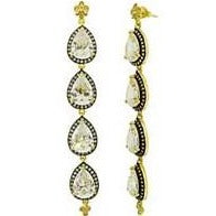 Freida Rothman Faceted Teardrop Linear Earrings (3 or 4 teardrops) - Bettina's Collection