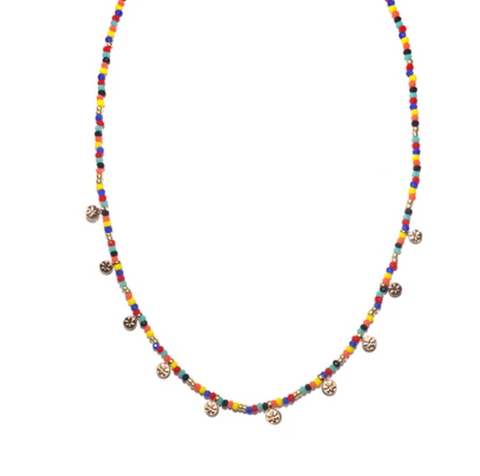 Eden Colorful Disc Choker - Bettina's Collection