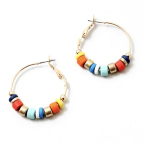 Color Block Hoops - Bettina's Collection