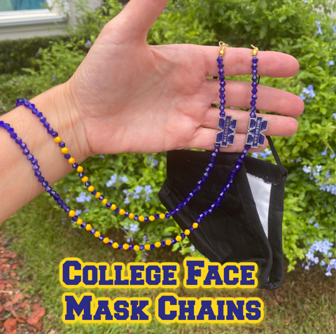 Crystal College Face Mask Chains - Bettina's Collection