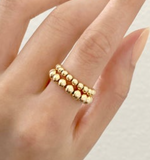 Gold Ball Ring - Bettina's Collection