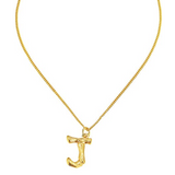 Caline Bamboo Initial Necklace