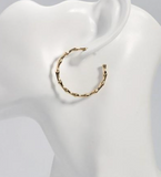 Delicate Bamboo Hoop Earrings - Bettina's Collection