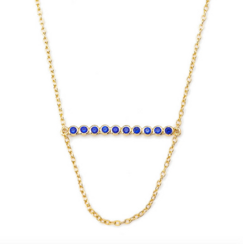 Meridian Ave. Bettina Necklace in Sapphire
