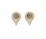 Melanie Auld Small Fasano Studs Labradorite - Bettina's Collection