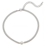 Strong and Sweet Pearl and Chain Choker - Bettina's Collection