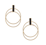Leah Double Gold or Silver Hoop Earrings - Bettina's Collection