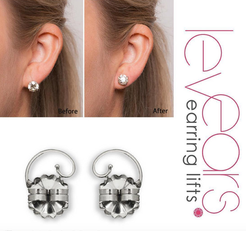 Sterling Silver Levears Earing LIfts - Bettina's Collection