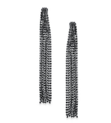 Cadence Duster Hematite Earrings - Bettina's Collection