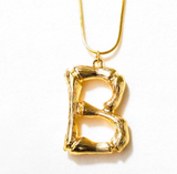 Caline Bamboo Initial Necklace Large - Bettina's Collection