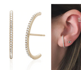Extra Long Curved Huggie Earrings - Bettina's Collection