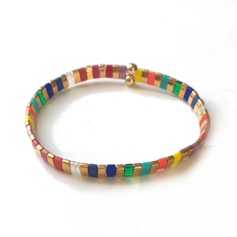 Colorful Whirl Tilla Bracelet - Bettina's Collection