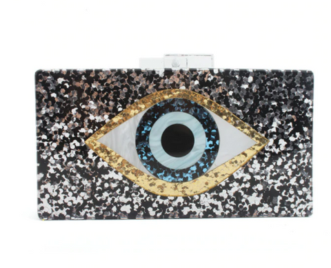 The Evil Eye Acrylic Clutch - Bettina's Collection