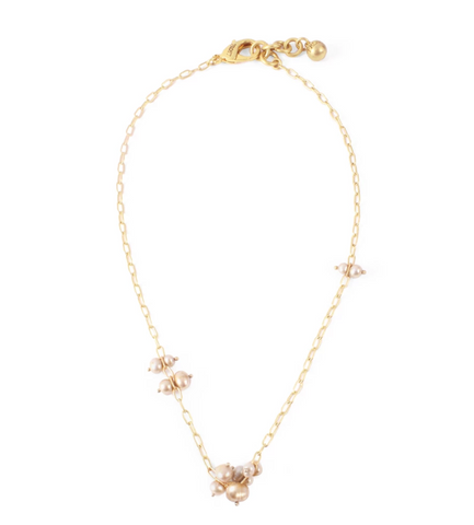 Lulu Frost PLAZA PEARL CLUSTER NECKLACE BASE - Bettina's Collection