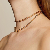 Light Weight Hollow Chain Link Choker - Bettina's Collection