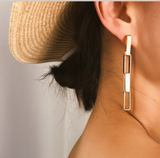 Serrah Silver Link Earrings - Bettina's Collection