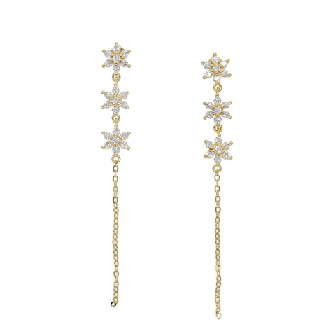 Flowers and Rain Earrings - Bettina's Collection