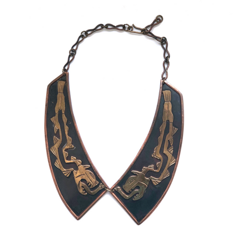 Vintage Copper Dragon Collar Necklace - Bettina's Collection