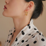 Katina Oval Hoop Earring - Bettina's Collection