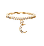 Moon Charm Over Miami Ring Size 6 - Bettina's Collection